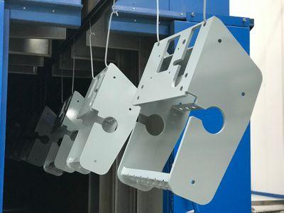 Powder coated welded parts Aluminium et alliage d'aluminium Cadre de machine / support machine